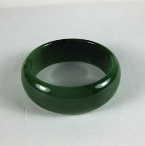Nephrite Bracelet Widen Float Black Spinach Green Jasper Bracelet Of Delicate Quality