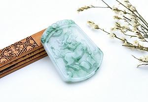 Noble Deep Green Color Jade Guanyin Pendant