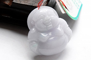 Charming Ice White Color Jade Ruyi Pendant