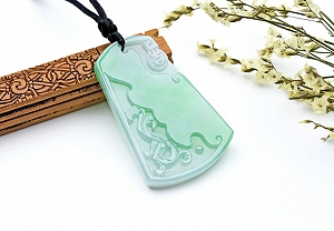 Wonderful Scattered Green Color Jade Pixiu Pendant
