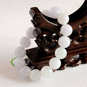 Charming Light Purple Color Jade Bracelet