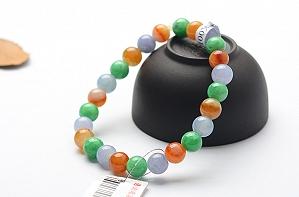 Charming Three Color Jade Bracelet