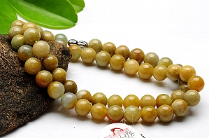 Wonderful Three Color Jade Necklace