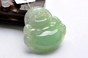 Wonderful Light Green Color Jade Buddha Pendant