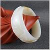 Noble White Oval Jade Bangle