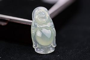 Wonderful Ice Jade Buddha Pendant