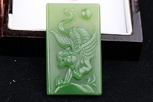 Unique Designed Hetian Flying Tiger Hetian Jade Pendant
