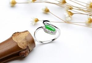 Wonderful Positive Green Color Jade Ring