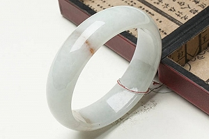 Wonderful Light Blue With Yellow Color Jade Bangle