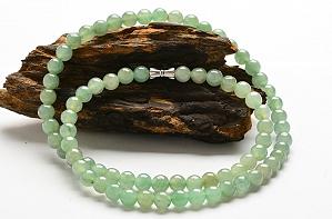 Wonderful Light Blue Color Jade Necklace