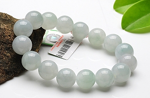Charming Light Blue Color Jade Bracelet