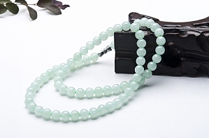 Wonderful Light Blue Color Jade Necklace