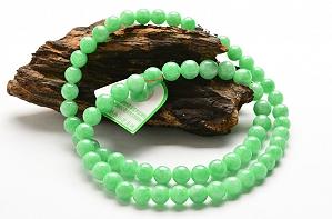 Wonderful Positive Green Color Jade Necklace