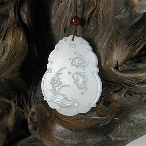 Mutton Fat Jade Hanging Piece Blooming Wealth Year By Year