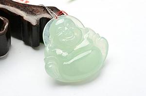 Wonderful Light Blue Color Jade Buddha Pendant