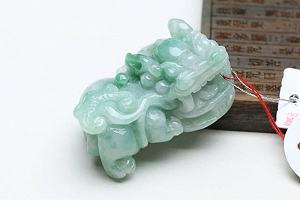 Wonderful Scattered Green Color Jade Pixiu Pendant