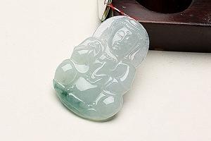 Wonderful Scattered Flower Jade Guanyin Pendant