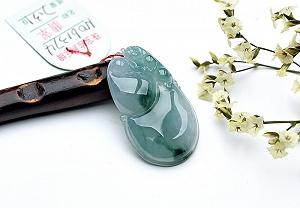 Wonderful Scattered Flower Jade Gourd Pendant