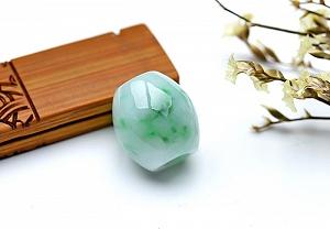 Wonderful Scattered Flower Jade Safe Button Pendant