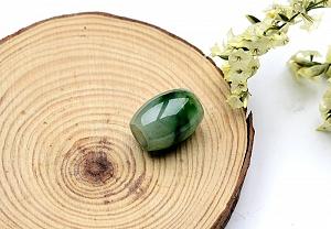 Wonderful Scattered Green Flower Jade Safe Button Pendant