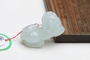 Wonderful Light Blue Color Jade Pixiu Pendant