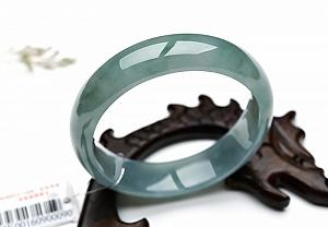 Oil Blue Jadeite Jade Bangle