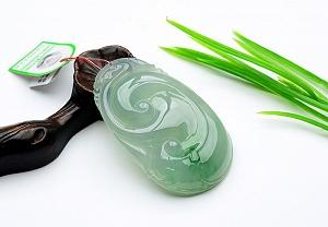 Rare Noble Ice Type Scattered Flower Jade Ruyi Pendant