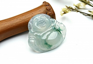 Wonderful Scattered Flower Jade Buddha Pendant