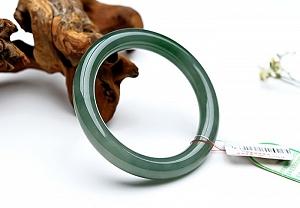 Wonderful Oil Blue Color Round Jade Bangle