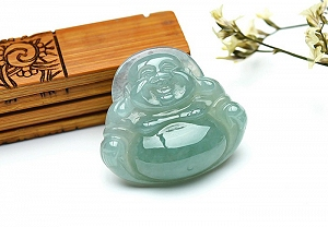 Rare Noble Ice Type Jade Buddha Pendant
