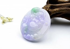 Wonderful Colorful Jade Buddha Pendant