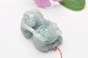 Wonderful Scattered Flower Jade Pixiu Pendant