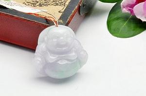 Wonderful Three Color Jade Buddha Pendant