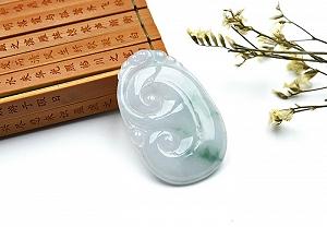 Wonderful Scattered Flower Jade Ruyi Pendant