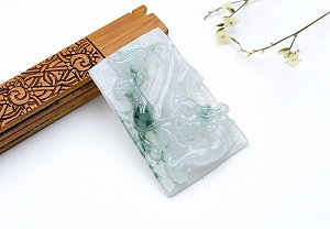Wonderful Scattered Yellow Color Jade Dragon Pendant