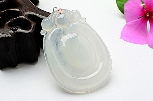 Rare Noble Ice Type Ice White Color Jade Ruyi Pendant