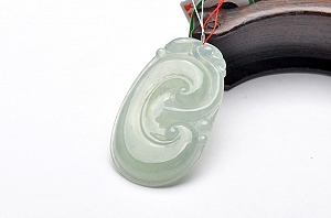 Wonderful Light Blue Color Jade Ruyi Pendant