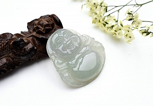 Wonderful Light Green Color Jade Buddha Pendant