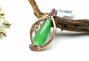 Wonderful Positive Green Color Jade Ruyi Pendant