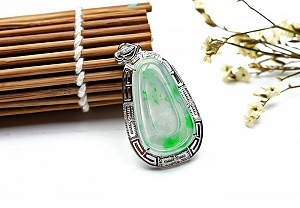 Wonderful Scattered Flower Jade Ruyi Pendant