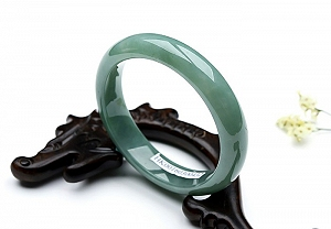 Oil Blue Jadeite Jade Bangle