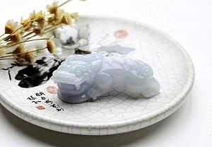 Wonderful Light Purple Color Jade Pixiu Pendant
