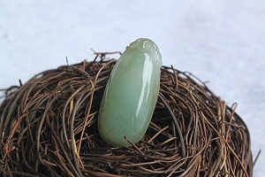 Pure Texture Scattered Yellow Color Jade Melon Pendant
