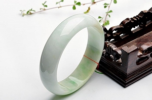 Wonderful Light Blue Yellow Color Jade Bangle