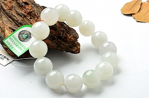 Charming Light Blue Color Jade Bracelet
