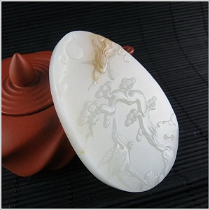 Charming Yellow White Color Hetian Jade Pendant To Choose