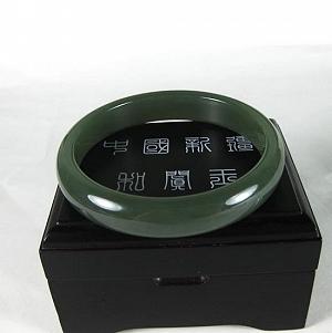 Special Grade Green Jade Bracelet Nephrite Bracelet Jade The Delicate Quality Oily Good
