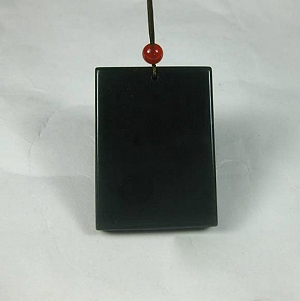 Nephrite Hanging Peace Nephrite Green Jade Card
