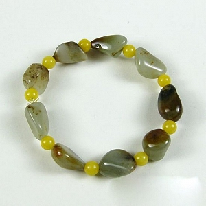 Nephrite Bracelet Nephrite Seed Jade Original Seed Bracelet Only Natural Seed Leather