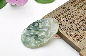 Wonderful Scattered Flower Jade Pendant